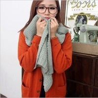Solid color winter scarf female yarn ultra long weijin autumn and winter thermal muffler scarf