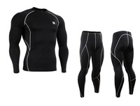 {No.JSYCPBL} FIXGEAR  Polyester High-quality Compression Cycling Sports Base Layer Long Sleeve Jersey &  Pants  Tights