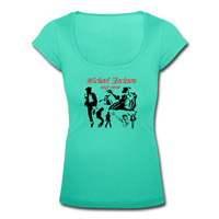 Michael Jackson Dancer Team Printed Women Short Sleeve Tee Shirts