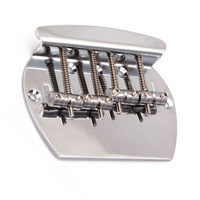 Heavy 4 string curved bass guitar bridge for Electric Bass