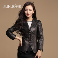 2013 spring and autumn clothing leather suede female short design genuine leather clothing outerwear blazer free shipping