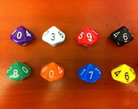 2015 HOT High Quality  Dungeons And Dragons 16 * 16mm D12 D&Dice for Game & Color Random