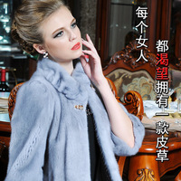 ST.JESSI Denmark Import Top Han Edition Female Mink Collar Lace Whole Mink Fur Coat 148