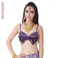 BELLYQUEEN~High Grade Performance Belly Dance Wear,Belly Dancing Top Bra Grape Bra,One Size Fit For 34B/C,10Colors Available