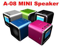 Big discount Large screen a-08 sports portable speaker lithium battery card mp3 mini stereo FM gaga sales