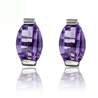 fashion vintage amethyst stud earring zhaohao s925 pure silver jewelry personalized Christmas birthday gift girlfriend gifts