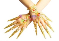 1pcs belly dance bracelet costume jewelry Indian dance bangle Avalokitesvara nail sets false nail cover hand jewelry