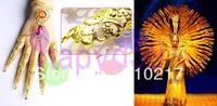 4pcs belly dance bracelet costume jewelry Indian dance bangle Avalokitesvara nail sets false nail cover hand ring