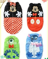 Baby cartoon Sleeping Bag lovely sleep bags cotton Infant baby lovely cartoon sleeping bag 4color