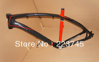 Color Black&Red Mountian Bike Frame Carbon 26er MTB Frame 3K Glossy BSA Free Ship