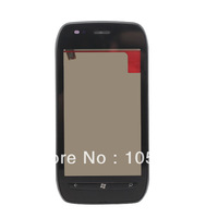 Free shipping touch screen digitizer with frame for  Nokia Lumia 710