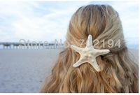 30pcs/lot Fashion Natural headdress hairclip Starfish with hairpin DIY headdress decorative props headdress in free shipping