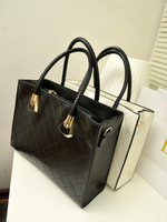 New & Hot 2013 female handbag fashion high quality plaid handbag women's bag