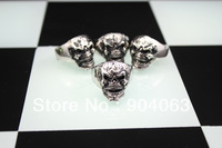 $11.99/3pcs Wholesale 316L Stainless Steel Skull Rings For Men Jewelry Hot Sale fashion jewellery Free Shipping R201-4