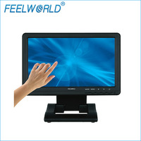 Free Shipping! High Brightness 10.1 inch  16:9  Touch LCD Monitor with VGA , YPBPR ,HDMI , SKS for  AV ,DVI input Signal