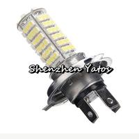 50pcs LED Car White Headlight Brake Taillight Turn Light Fog Lamp H4 3528 102SMD