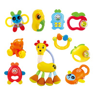 Yobee 10 set handbell combination,Hand bell Combined box Baby toys With gutta percha Baby toys