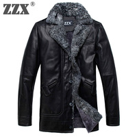 Genuine leather clothing male berber fleece turn-down collar slim short design one piece luxury fur men's clothing outerwear