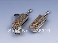 Fashion Jewelry 4GB -32GB Diamond Crystal Gole color USB Flash Drive Memory Stick U-Disk
