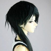 New Hot Black Wool Short/lengthen Wig Hair MSD DOD DZ 1/4 BJD Dollfie 7-8""