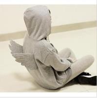2ne1 wings three-dimensional cartoon young girl zipper with a hood sweatshirt type short jacket plus size