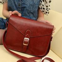 2013 one shoulder cross-body women's handbag fashion vintage small bag Wine red bags  B202