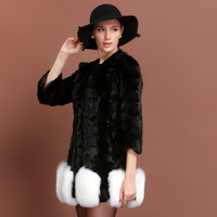 2013 autumn and winter high quality mink hair fight mink fox fur female sweep free shipping wholesale