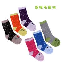 Baby socks autumn and winter children socks thickening male socks newborn cashmere socks w05