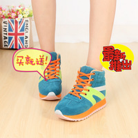 Agam sneaker high cotton-padded shoes thermal platform elevator women's shoes candy color shoes
