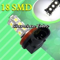 20pcs H11 Pure White 18 SMD 5050 Fog Driving Tail Signal 18 LED Car Light Bulb Lamp