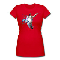 Bella Women's Scoop Tee Sexy Michael Jackson Custom Free shipping