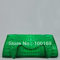 Genuine crocodile clutch bag_crocodile bags green