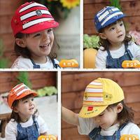 Baby summer hat baby cap child sunbonnet male female child baby cap female child visor