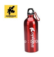 Free Shipping!2013  Eco-friendly Outdoor sport portable folding stainless steel  water bottle 600ml with Mountaineering buckle