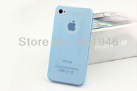 2013 Hot sale popular Luxury quality Transparent ultra-thin for iPhone 4/4s Phong cover 10pcs Wholesale Free shipping