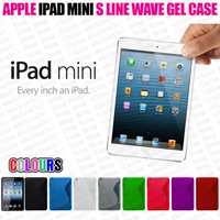 Free shipping wholesale 100pcs/lot New High Quality Soft TPU Gel S line Skin Cover Case For iPad Mini iPad Mini
