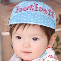 Baby cap sunbonnet female child visor male child hat short brim hat summer sun hat