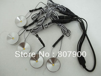 NEW 5pcs 5V DC 1*1W LED Puck/Cabinet Light,LED spotlight+35cm connect wire