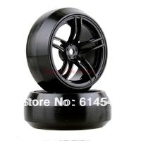 4x RC 1:10 Car On-Road 1/10 Drift Wheel Rims & Tyre Tires Fit HSP HPI 9065-1080 BLACK