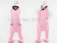 wholesale new kitty Pajamas Pyjamas suits Cosplay Costume high quality flannel cartoon animal sleepcoat