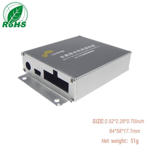 Mobile terrestrical digital TV enclosure aluminum enclosure 64*58*17.7mm 2.52*2.28*0.70inch(China (Mainland))