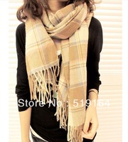 Free Shipping! New Arrival Fashion Hot Selling Plaid Lady Warm Wool Scarf