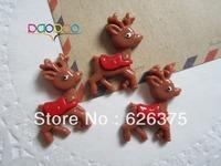 30pcs/lot Wholesale Reindeer, Resin Flatback Flat Back Cabochons for Embellishment, Hair Bow Center, DIY Free Shipping