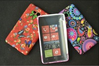 Colorful Classic Zebra Flower Heart Pattern Flowers and Straws Style Luxury TPU Protective Case Shell Cover for Nokia Lumia 820