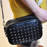 New Fashion 2013  shoulder bag messenger bag rivet punk small bag female bags  B031