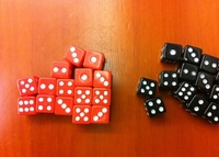 2013 NEW! 8 * 8 * 8MM ABS Playing card Poker Chips dice for Gambling Dice \u0026 Black, red