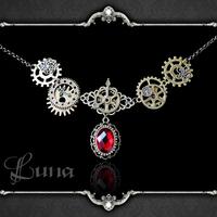 Luna hand for steampunk punk - steam