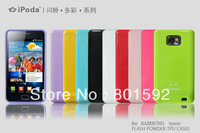 New TPU ipoda 9 Colors Case For Samsung I9100 Galaxy SII S II S2 Free Shipping