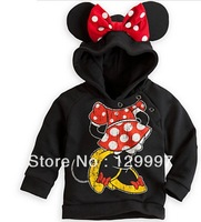 2013 New Arrival autumn Child Boys Girl Hoodie Long Sleeve Hoodies Mickey Minnie mouse cartoon top kids t shirts Free Shipping