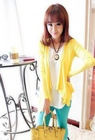 Female clothing cape no button all-match elegant long-sleeve cardigan coat 629